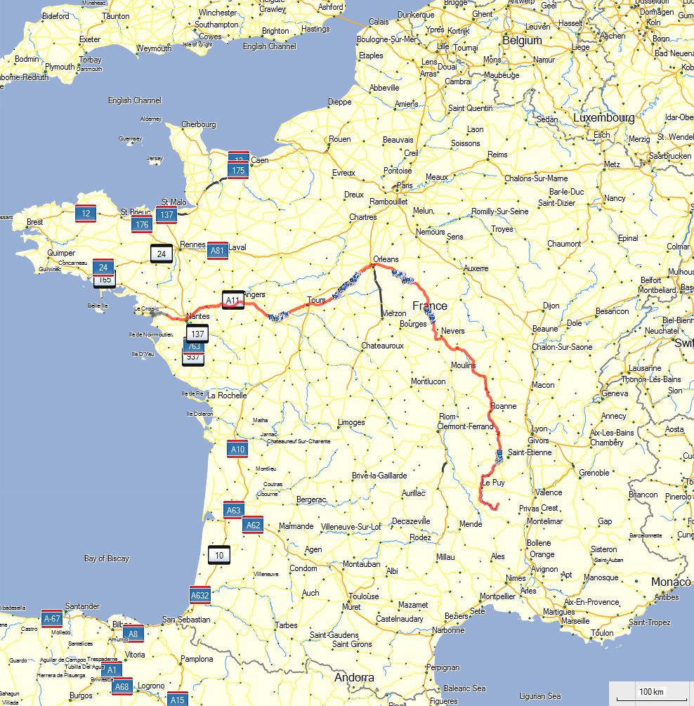 carte loire à vélo La Loire à vélo